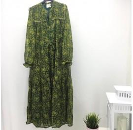 abito lungo verde