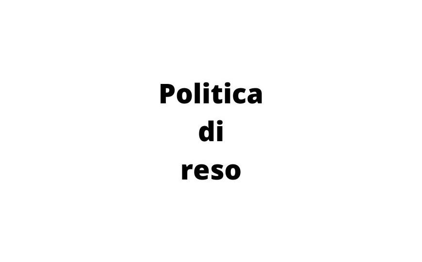 Politica di Reso